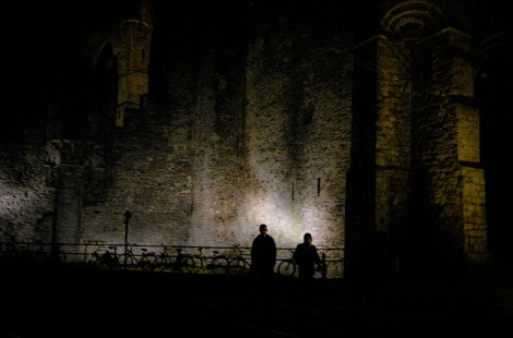 Gravensteen at night