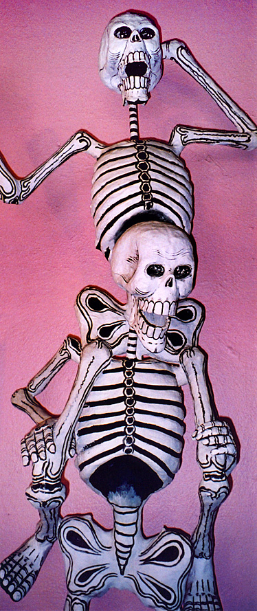 two skeletons celebrating the Day of the Dead