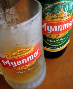 a cold Myanmar beer