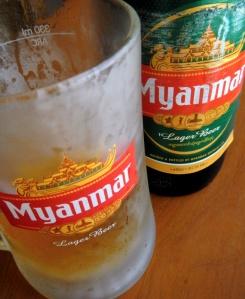 a cold Myanmar beer