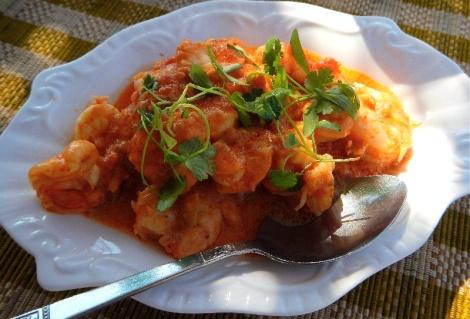 coconut curry prawns