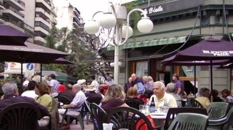 in La Biela Cafe in Buenos Aires, Argentina