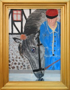 Dad's painting of his horse and him