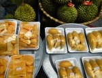 Jackfruit & Durian For Sale in a Hanoi Market