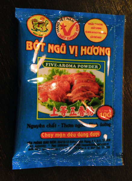 5-spice powder from Vietnam
