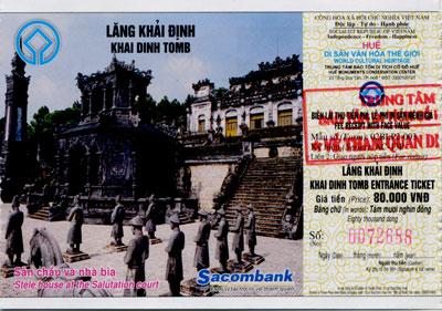 Entrance Ticket for Khai Dinh Tomb in Hue