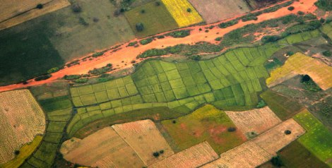 Flying Over the Patchwork Fields of Myanmar
