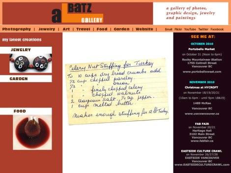 Albatz Blog featuring food, travel, garden, photography & ar