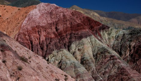 The Hill of Seven Colours in the Quebrada de Humahuaca