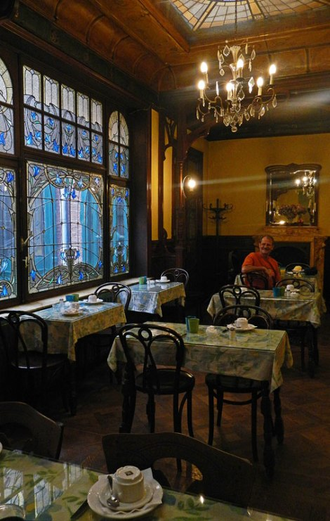 Arte Nouveau Dining Area at the Rubenshof Hotel in Antwerp