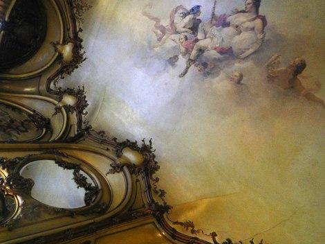 Painted Ceiling in the Sitting Room of the Rubenshof Hotel in Antwerp
