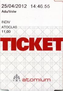 Brussels Atomium Ticket