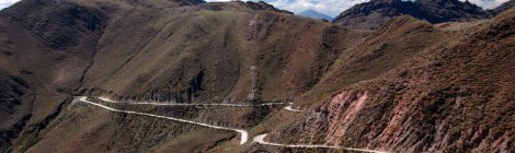 Twisting Road in the High Puna of Argentina
