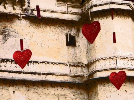 Udaipur Palace Red Hearts and Velvet Wedding