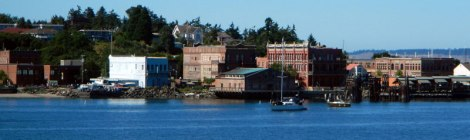 View of Port Townsend from the Ferry