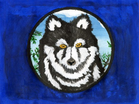 Dad's Painting Wolf