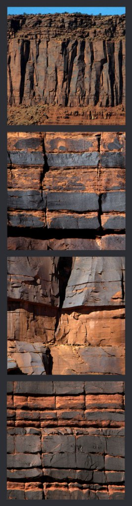 Collage of Rocks with Desert Varnish