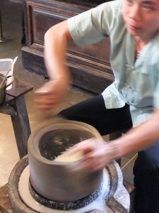 Grinding Rice Flour by Hand