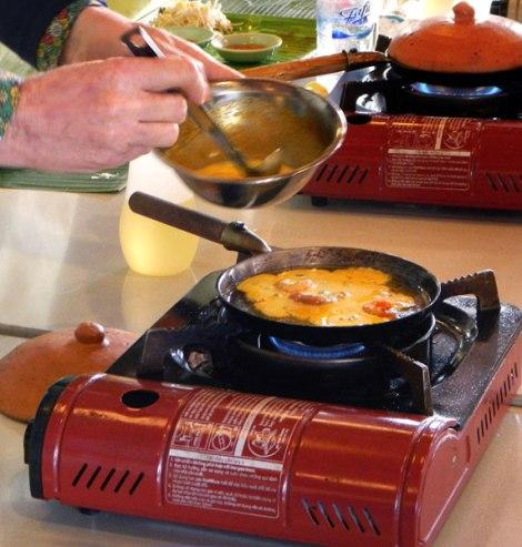 Making Vietnamese Pancakes