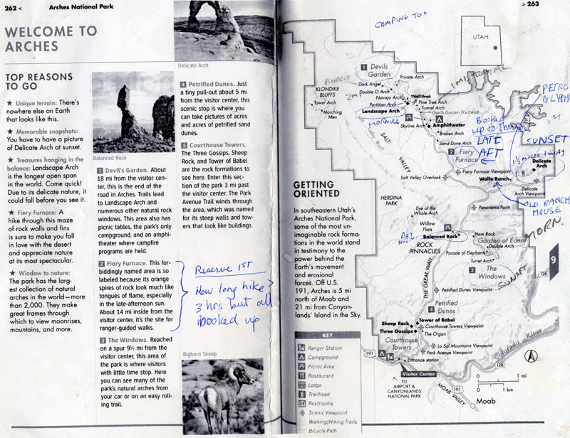 Arches National Park Map: Moab