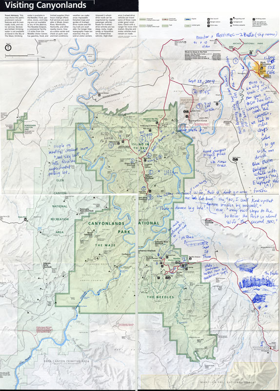 Annotated Canyonlands National Park Map
