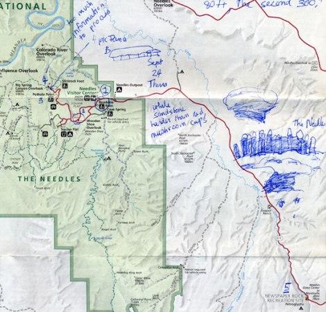 Canyonlands South Entrance Map