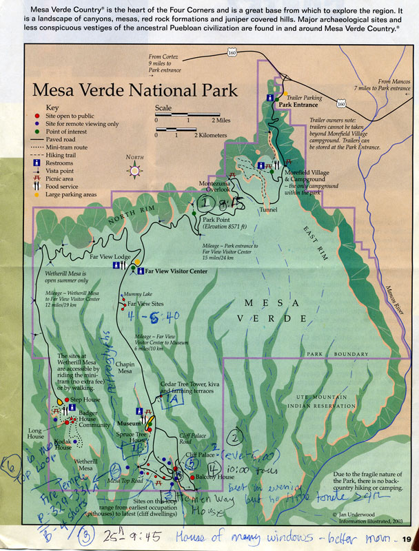 Mesa Verde National Park Map | Albatz Travel Adventures