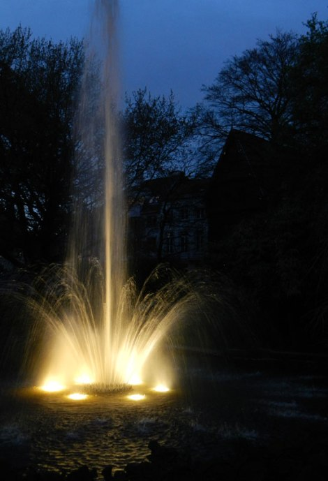 Fountain at Night in Bruges