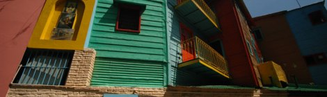 The Brilliantly Coloured Buildings of La Boca in Buenos Aires