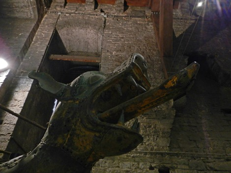 Dragon at the bottom of the Stairs in Ghent's Belltower