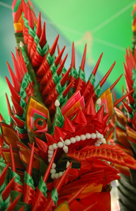 A Bright Ribbon Dragon in Bangkok
