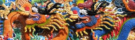 A Dragon Mosaic in Bangkok's Chinatown