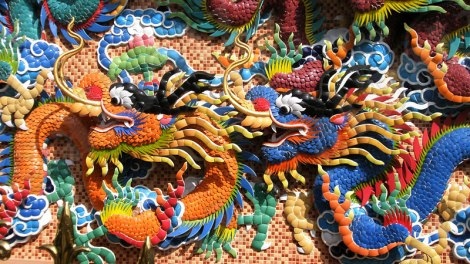 A Dragon Mosaic in Bangkok's Chinatown