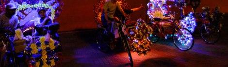 Melaka's Flowered Rickshaws