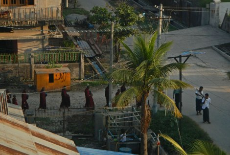 The view from our hotel in Mandalay first thing in the morning