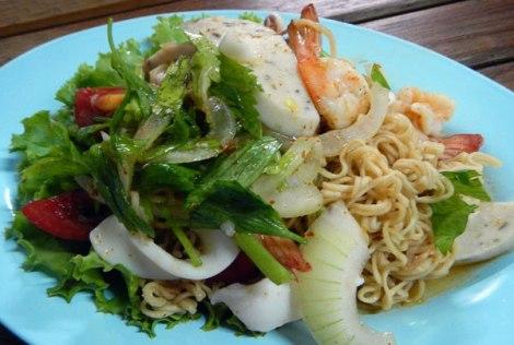 Bangkok Chinatown seafood salad