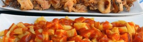 Patatas Bravas y Chipirones