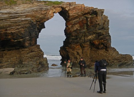 A natural arch at the Playa de las Catedrales in northern Spain