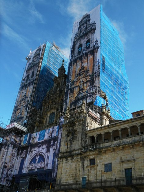 Renovations on the Cathedral of Santiago de Compostela