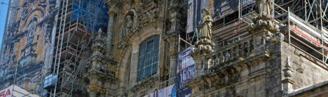 The Cathedral of Santiago de Compostela was undergoing renovation
