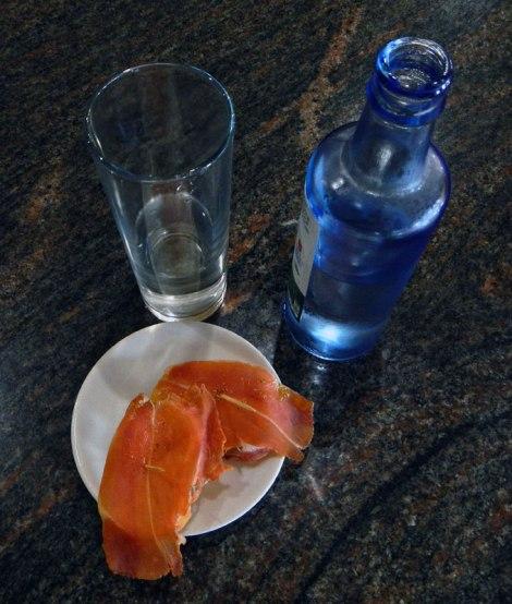 Tapa of Serrano Ham on Bread