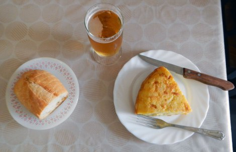 My Spanish Tortilla in Mondoñedo's Café Bar El Peregrino