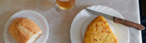 My Spanish Tortilla in Mondoñedo's Café Bar El Peregrino