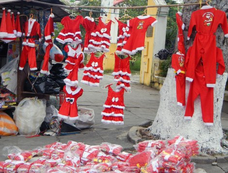 Santa outfits in all shapes and sizes for sale