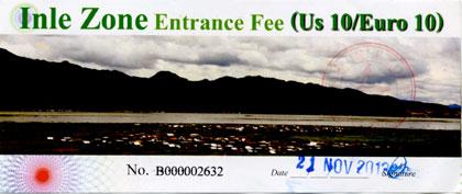 Inle Lake Entrance Fee