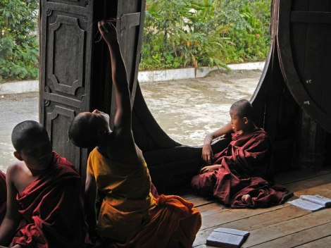 Child Monks at the Inle LakeMonastery