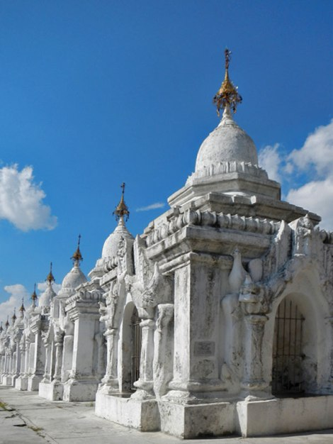 Kuthodaw Pagoda: 729 Stupas Each Containing a Tablet Inscribed with the Buddhist Canon