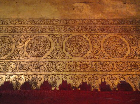 Painted Gilt Decoration on the Mahumuni Temple in Mandalay