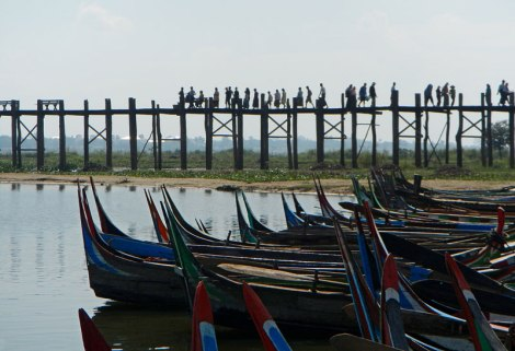 U Bein Bridge in Mandalay, Myanmar