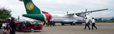 Boarding Yangon Airways Plane to Inle Lake